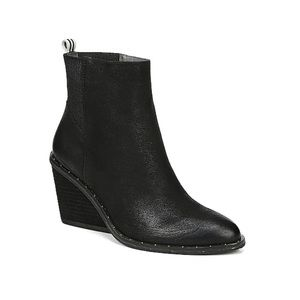 Dr Scholls Mania Black Wedge Ankle Boots 10
